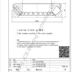 drawing of 29322 E spherical roller thrust bearing
