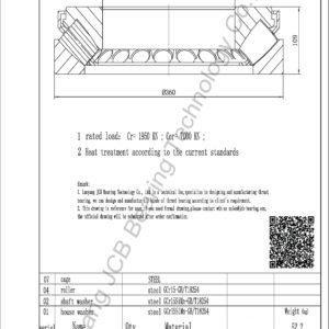 drawing of 29436E spherical roller thrust bearing