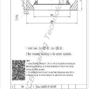 drawing of 29438 spherical roller thrust bearing